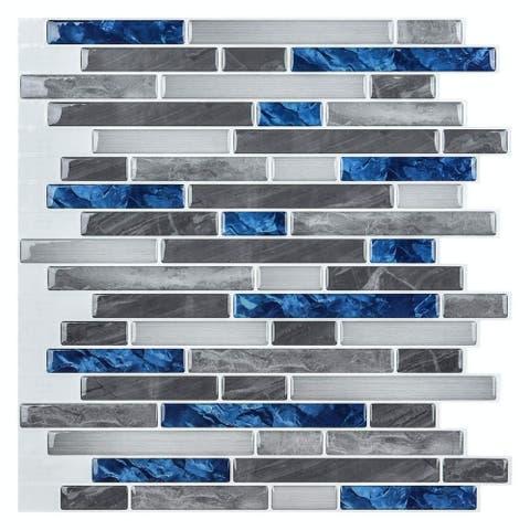 Art3d Peel and Stick Brick Kitchen Backsplash Self-Adhesive Wall Tile Stone Design, 10 Sheets