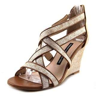 French Connection Ulie Open Toe Synthetic Wedge Sandal