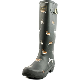 Joules Welly Print Women  Round Toe Synthetic Black Rain Boot