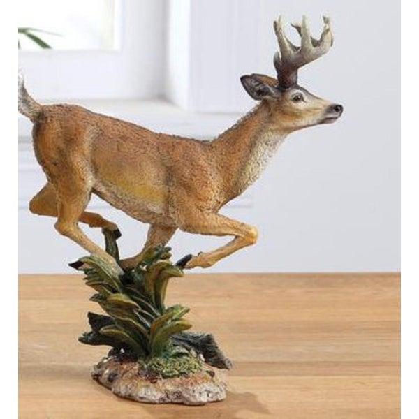 """8"""" Woodland Inspired Prancing Reindeer Christmas Figure - brown"""