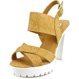 Steve Madden Lundyy Women  Open Toe Synthetic  Platform Heel