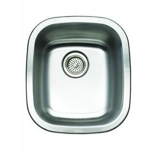"""Mirabelle MIRUC1517 14-1/2"""" Single Basin Stainless Steel Bar Sink - Undermount I"""