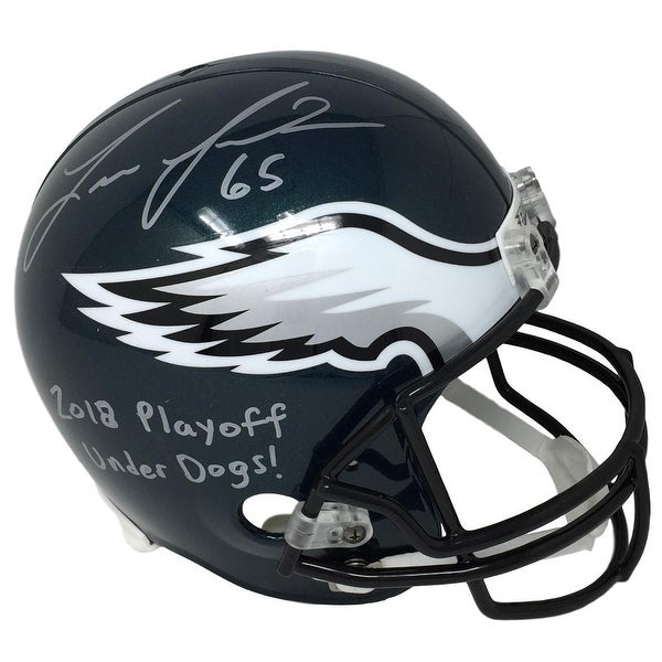 369853a2f Lane Johnson Signed Philadelphia Eagles Full Size Replica Helmet Underdogs  JSA