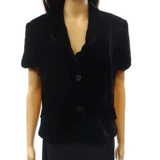 INC NEW Deep Black Solid Velvet Women's Size Large L Two Button Vest|https://ak1.ostkcdn.com/images/products/is/images/direct/baf62870ee09a8267c7d9b05a85236757369b494/INC-NEW-Deep-Black-Solid-Velvet-Women%27s-Size-Large-L-Two-Button-Vest.jpg?impolicy=medium