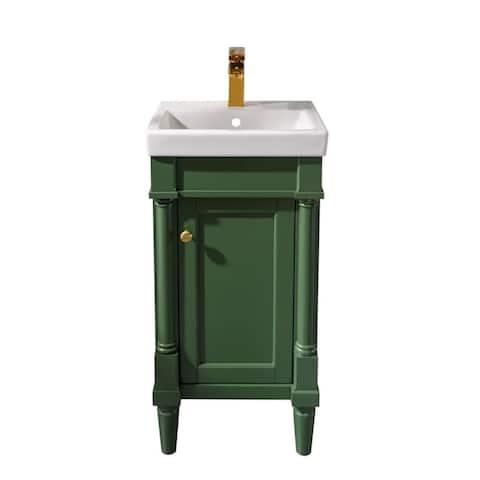"Legion Furniture 18"" Pewter Green Sink Vanity WLF9218-VG"