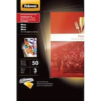 Fellowes Laminating Pouches, Menu, 3 mil Thickness, Pack of 50