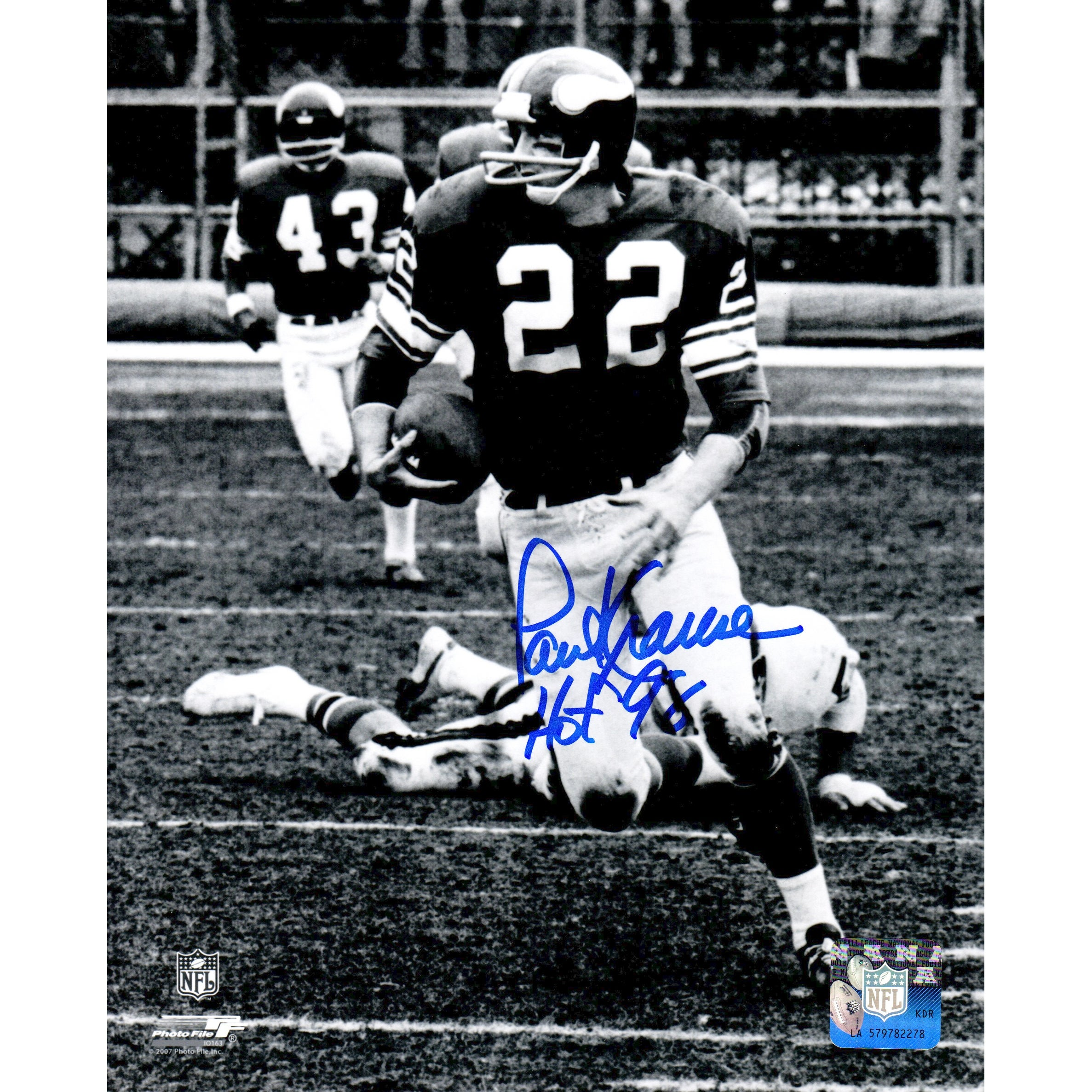H PAUL KRAUSE MINNESOTA VIKINGS 8X10 SPORTS ACTION PHOTO