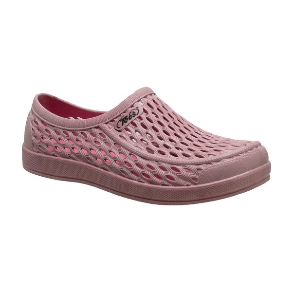 "Women's 4"" Relax Aqua Tecs Garden Shoes, Pink. Opens flyout."
