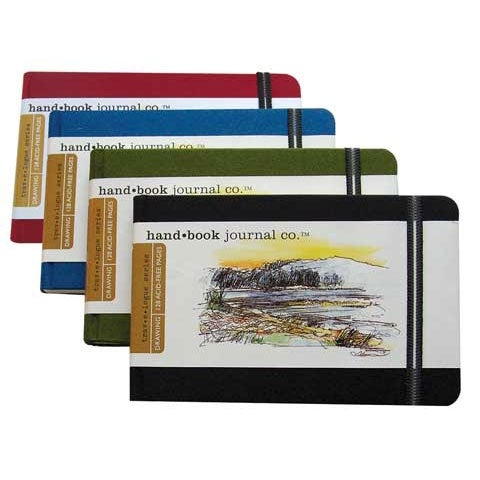 "Global Art - Hand Book Artist Journals - Pocket Landscape - 5-1/2"" x 3-1/2"" - Ultramarine Blue"