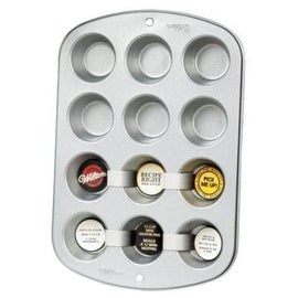Wilton 2105-952 Recipe Right Mini Muffin Pan, 12 Cup