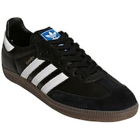 Adidas Originals Samba OG OrthoLite Leather Casual Shoes - Black/White/Gum