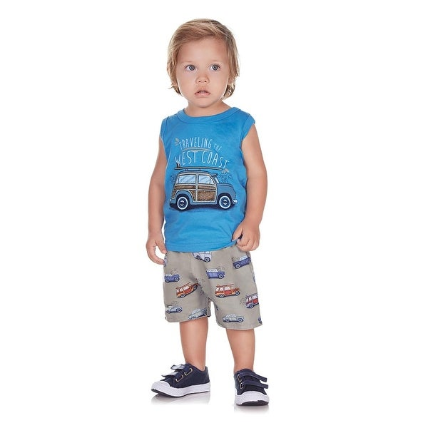 Pulla Bulla Baby Boy 2-Piece Set Tank Top and Shorts Outfit