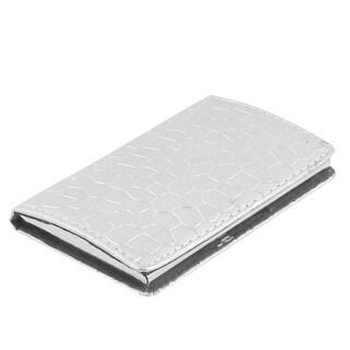 Unique Bargains Textured Magnetic Flip Flannel Interior Business VIP Card Holder