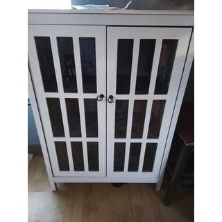 Simple Living Portland Window Pane Cabinet