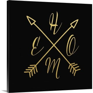 """""""Home Arrows Gold And Black"""" Canvas Wall Art"""