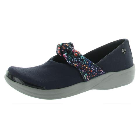 Bzees Womens Playful Loafers Slip On Bow Navy 8.5 Wide (C,D,W) - 8.5 Wide (C,D,W)