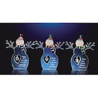 "Club Pack of 12 Decorative Inspirational Christmas Snowmen 5.5"" - CLEAR"