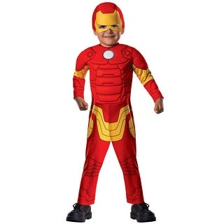 Rubies Deluxe Iron Man Toddler Costume - Red