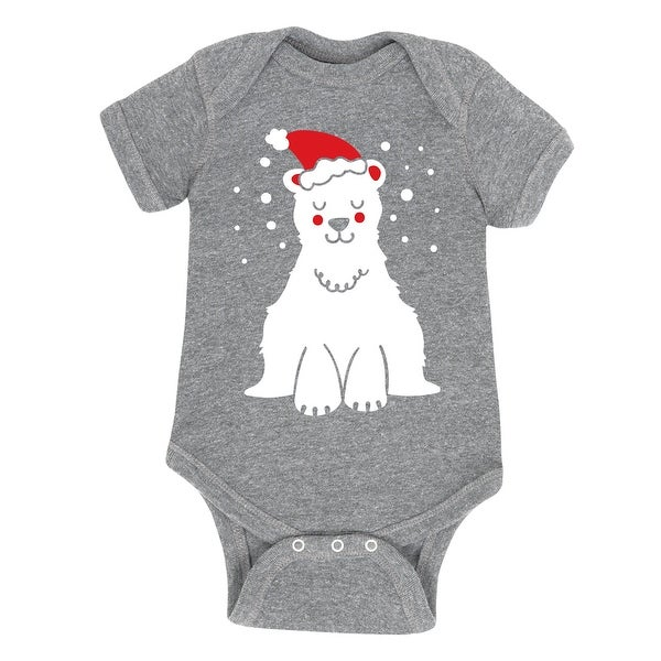 Polar Bear With Santa Hat - Infant One Piece
