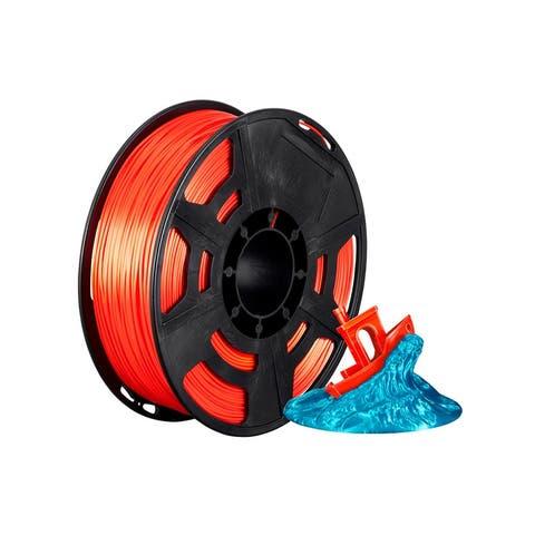 Monoprice Hi-Gloss 3D Printer Filament PLA 1.75mm - 1kg/spool - Orange Red, Works With All PLA Compatible 3D Printers