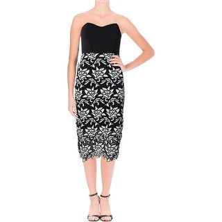 JOA Womens Party Dress Lace Strapless