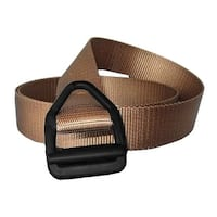 Bison Designs Last Chance Light Duty Black Buckle Belt - Coyote Brown