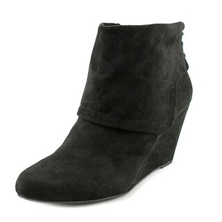 Jessica Simpson Reaca Women Pointed Toe Suede Black Bootie