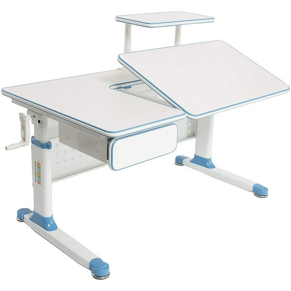 ApexDesk Little Soleil Kid's Height Adjustable Desk w/ Shelf & Drawer. Opens flyout.