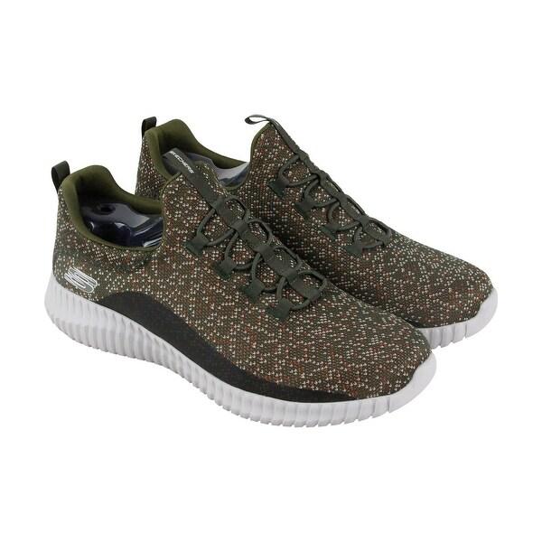 Skechers Elite Flex Muzzin Mens Gray Textile Athletic Lace Up Training Shoes
