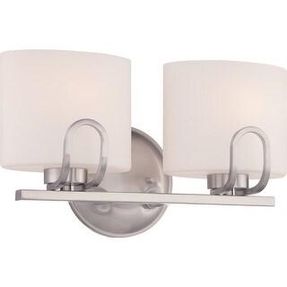 Nuvo Lighting 60/5292 Lola 2 Light Bathroom Vanity Light in Brushed Nickel - Brushed Nickel