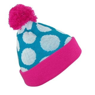 Broner Girls' Glow in the Dark Polka Dot Stocking Knit Cuff Cap - One size