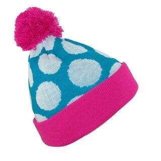 Broner Girls' Glow in the Dark Polka Dot Stocking Knit Cuff Cap