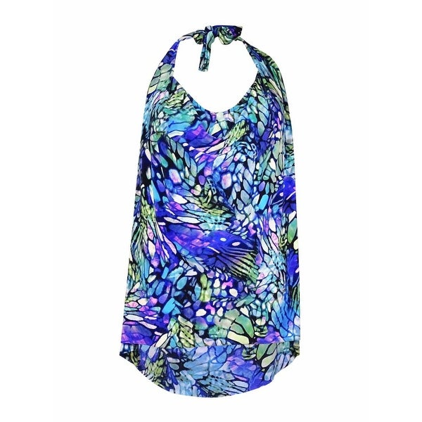 Magic Suit by Miraclesuit Women's Halter Jersey Tankini Swim Top (12, Multi) - 12