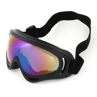Woman Man Elastic Head Band Colorful Lens Ski Skate Sports Goggles Sunglasses