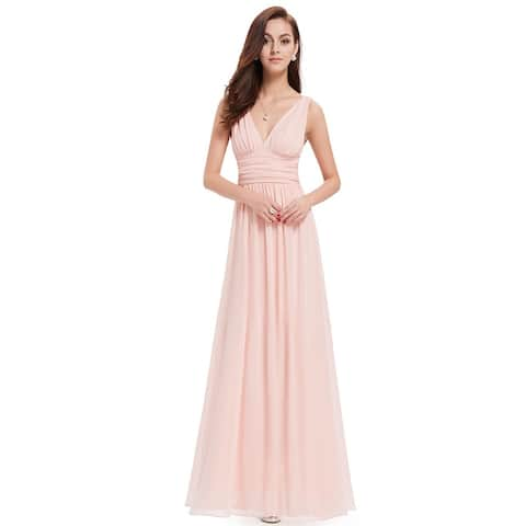 819d7c7456a9 Ever-Pretty Womens Empire Waist Sleeveless V Neck Evening Party Dress 09016