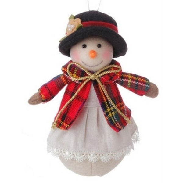 """6.5"""" Christmas Traditions Holiday Snowman Girl Christmas Table Top Decor Ornament"""