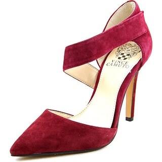 Vince Camuto Carlotte Women Pointed Toe Suede Burgundy Heels