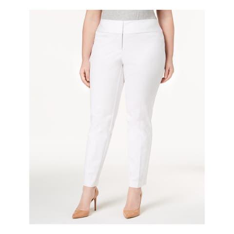 ALFANI Womens Ivory Wear To Work Pants Size 22W