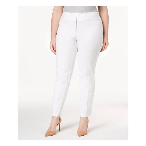 ALFANI Womens White Wear To Work Pants Size 16W