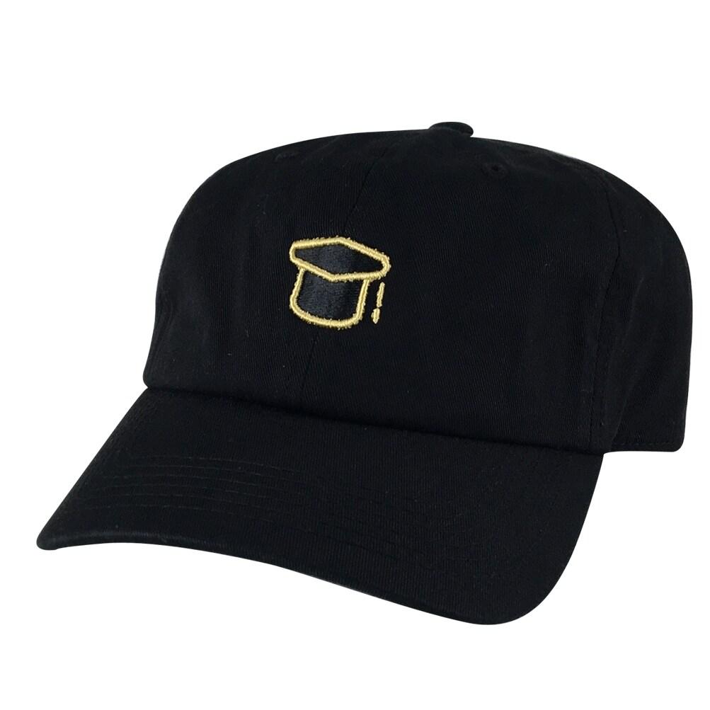 Graduation Class Of 2016 2017 2018 Unstructured Adjustable Hat Dad Cap Black White