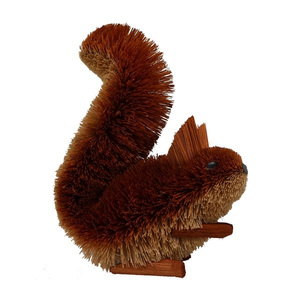 """9"""" Brown Whimsical Bristle Brush Handcrafted Squirrel Brush Ears - N/A"""