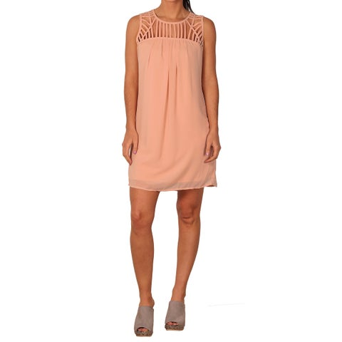 Paperdoll Junior Sleeveless Cut-Out Dress - blush