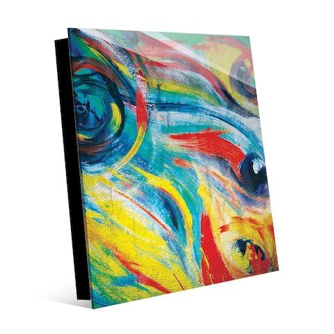 Kathy Ireland Fire Vortex Distressed Abstract on Acrylic Wall Art Print