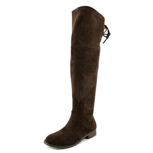 Very Volatile Briar Women Round Toe Canvas Brown Over the Knee Boot