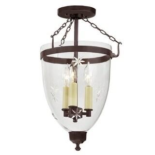 """JVI Designs 1163 Danbury 3 Light 11"""" Wide Semi-Flush Ceiling Fixture (2 options available)"""