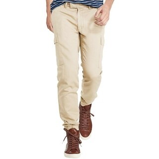 Polo Ralph Lauren Big and Tall Straight Fit Twill Cargo Jogger Pants Sand (Option: 48 Inch)
