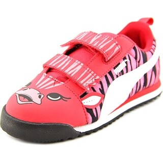 Puma Roma SL Zebra V Ki Youth Round Toe Synthetic Pink Sneakers