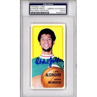 Kareem AbdulJabbar Lew Alcindor Bucks 197071 Topps Tall Boy Basketball Card 75 Beckett Encapsulated