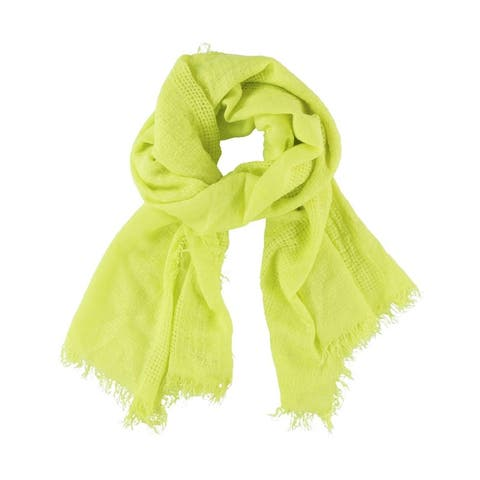 Aeropostale Womens Solid Fringe Scarf - Classic (57 To 59 in.)