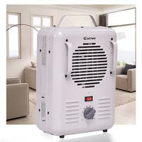 Costway Electric Portable Utility Space Heater Thermostat Room 1500W Air Heating Wall - White